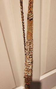 Gold Chain Belt with Diamond Embellishments